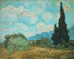 Vincent Van Gogh - Wheat Field with Cypresses 2