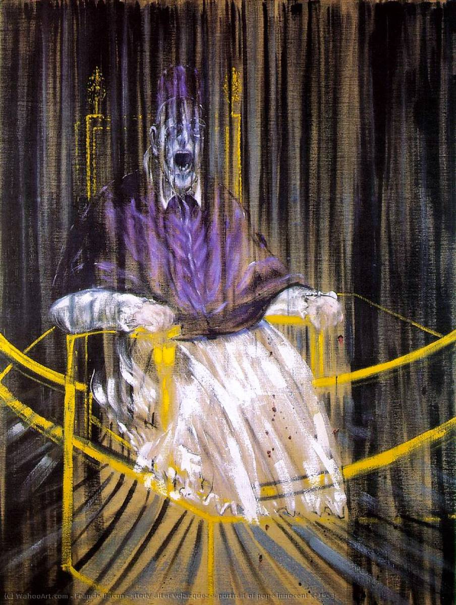famous painting study after velazquez's portrait of pope innocent x, 1953 of Francis Bacon
