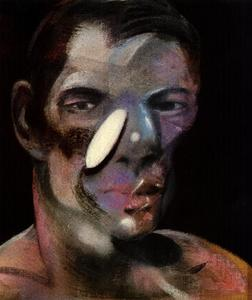 Francis Bacon - three studies for a portrait of peter board, 1975 ii left
