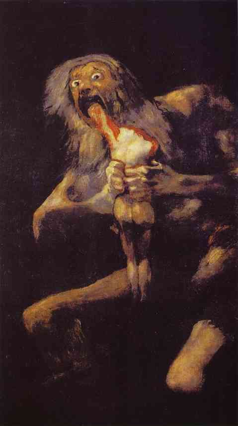 famous painting Saturn Devouring His Son of Francisco De Goya