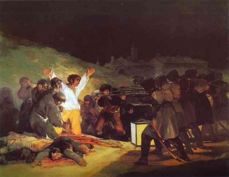 famous painting The Third of May, 1808 The Execution of the Defenders of Madrid of Francisco De Goya