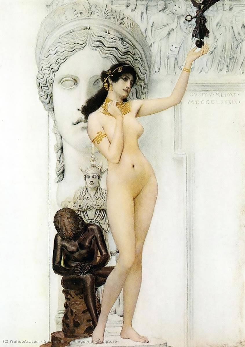 famous painting Allegory of 'Sculpture' of Gustav Klimt