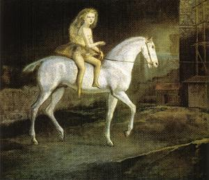 Balthus (Balthasar Klossowski) - Squires on a white horse