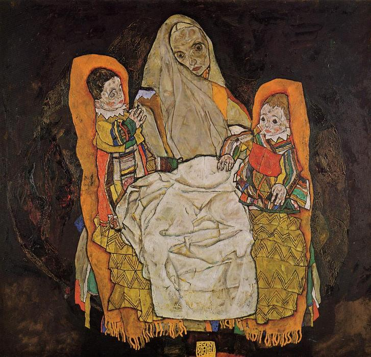 famous painting Mother with Two Children of Egon Schiele