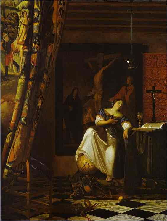 famous painting Allegory of Faith of Jan Vermeer