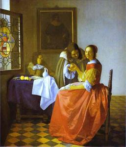 Jan Vermeer - Woman and Two Man