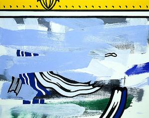 Roy Lichtenstein - Bstraction with Picture Frame
