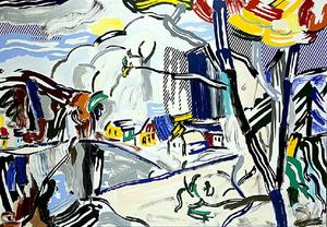 Roy Lichtenstein - Mountain Village