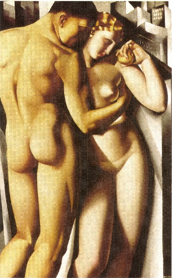 famous painting Adam and Eve of Tamara De Lempicka
