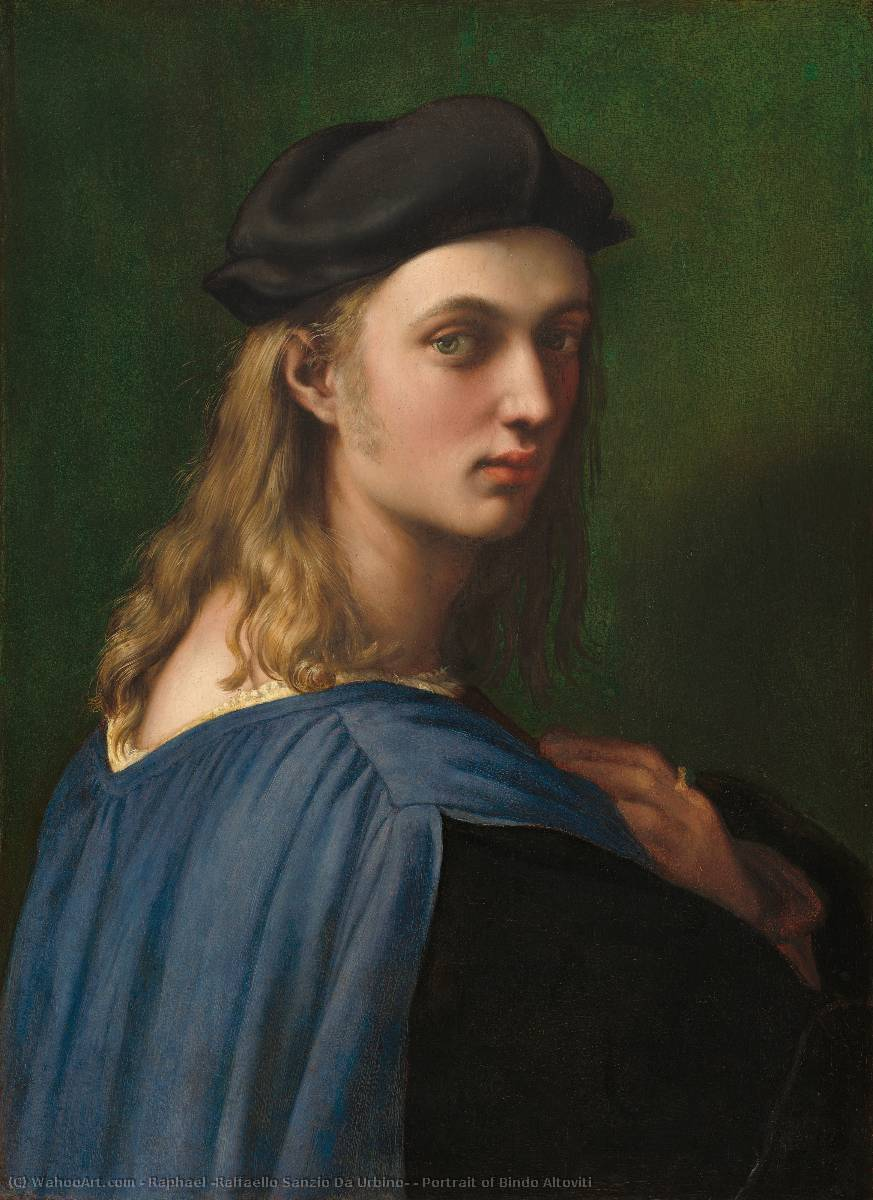 famous painting Portrait of Bindo Altoviti of Raphael (Raffaello Sanzio Da Urbino)
