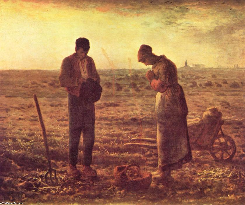 Order Art Reproductions : The Angelus by Jean-François Millet | AllPaintingsStore.com