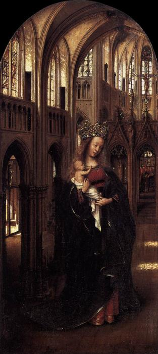 famous painting Madonna in the Church of Jan Van Eyck