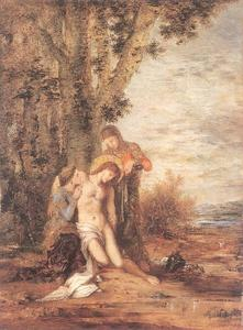 Gustave Moreau - Saint Sebastian and the Holy Women