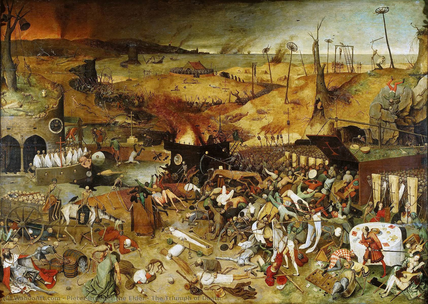 famous painting The Triumph of Death of Pieter Bruegel The Elder