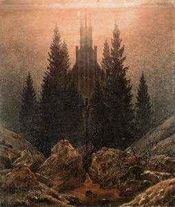 Caspar David Friedrich - The Cross in the Mountains