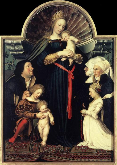 Order Oil Painting : Darmstadt Madonna by Hans Holbein The Younger | AllPaintingsStore.com