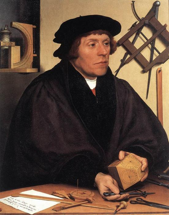 famous painting Portrait of Nikolaus Kratzer of Hans Holbein The Younger
