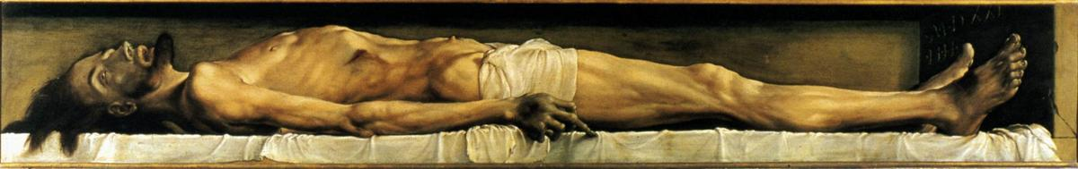 famous painting The Body of the Dead Christ in the Tomb of Hans Holbein The Younger