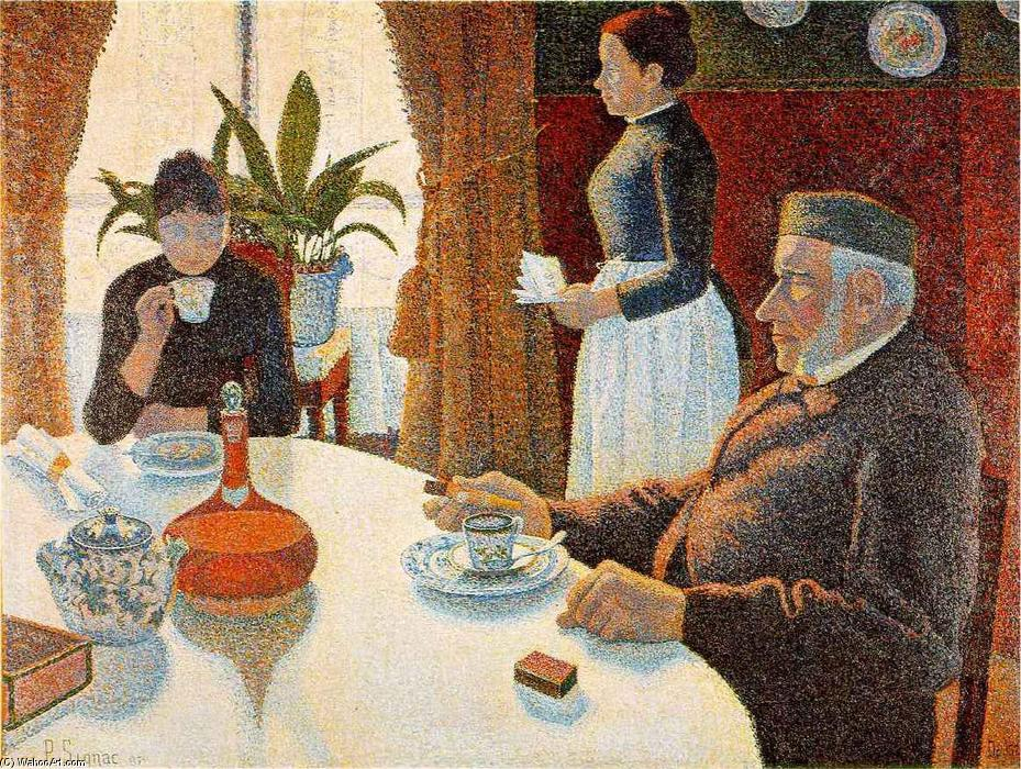 famous painting Breakfast (The Dining Room) of Paul Signac