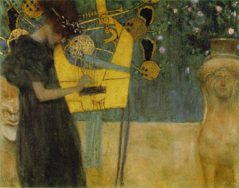 famous painting Music I of Gustav Klimt