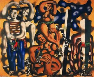Fernand Leger - Composition with Two Parrots