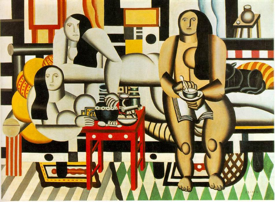 famous painting Three Women of Fernand Leger