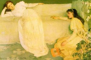 James Abbott Mcneill Whistler - Symphony in White Number 3