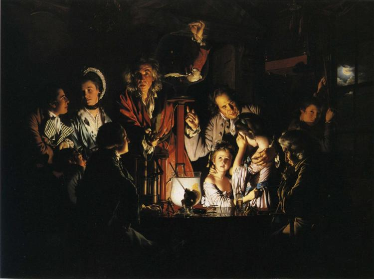 famous painting An Experiment on a Bird in the Air Pump of Joseph Wright Of Derby