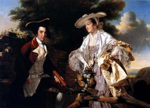 Joseph Wright Of Derby - Peter Perez Burdett and His First Wife Hannah