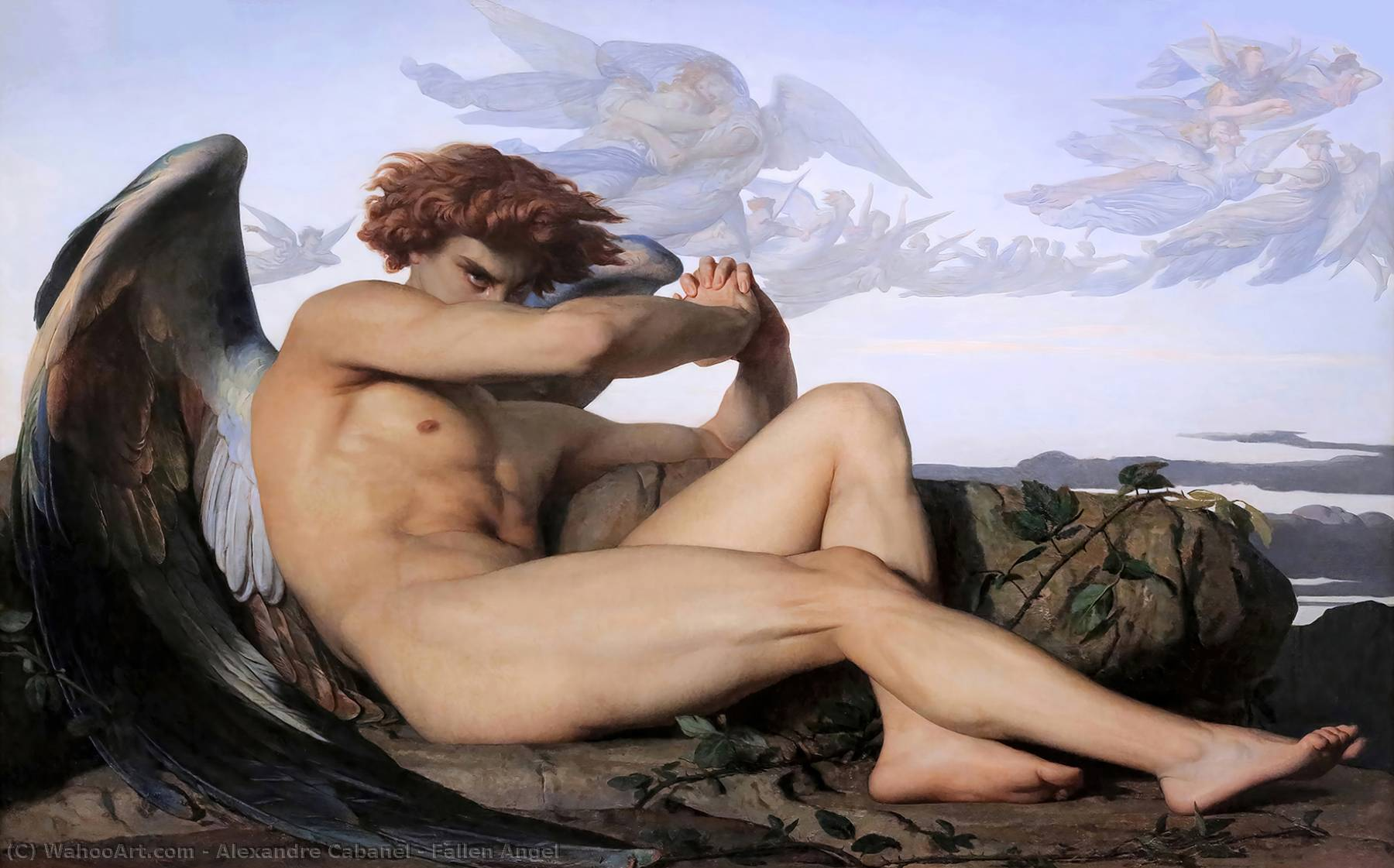 famous painting Fallen Angel of Alexandre Cabanel