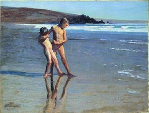 Correa Benito Rebolledo - Boys at the beach 1