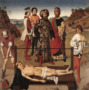 Dierec Bouts - Martyrdom of St. Erasmus (central panel)