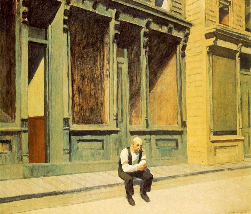 famous painting Sunday of Edward Hopper