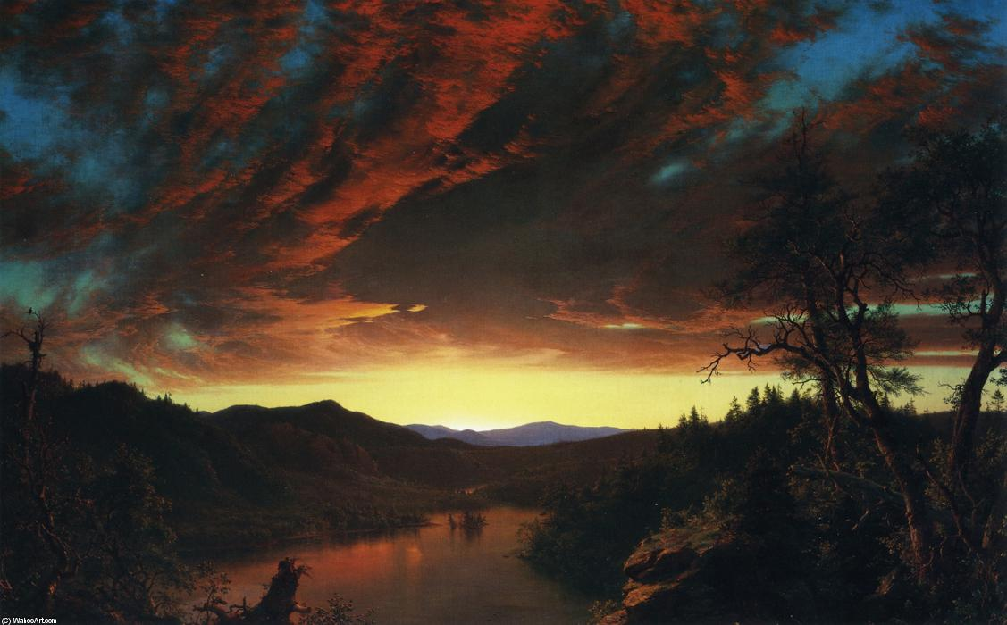 famous painting Twilight in the Wilderness of Frederic Edwin Church