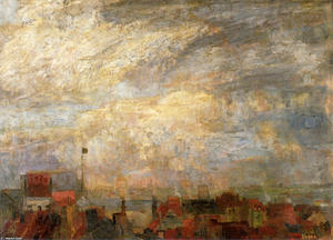James Ensor - Rooftops of Ostend