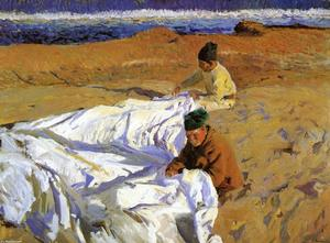 Joaquin Sorolla Y Bastida - Mending the Sail 1