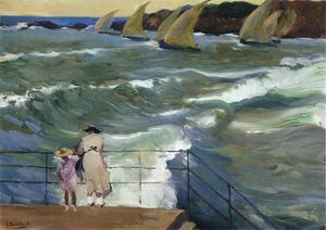 Joaquin Sorolla Y Bastida - The Waves at San Sebastian