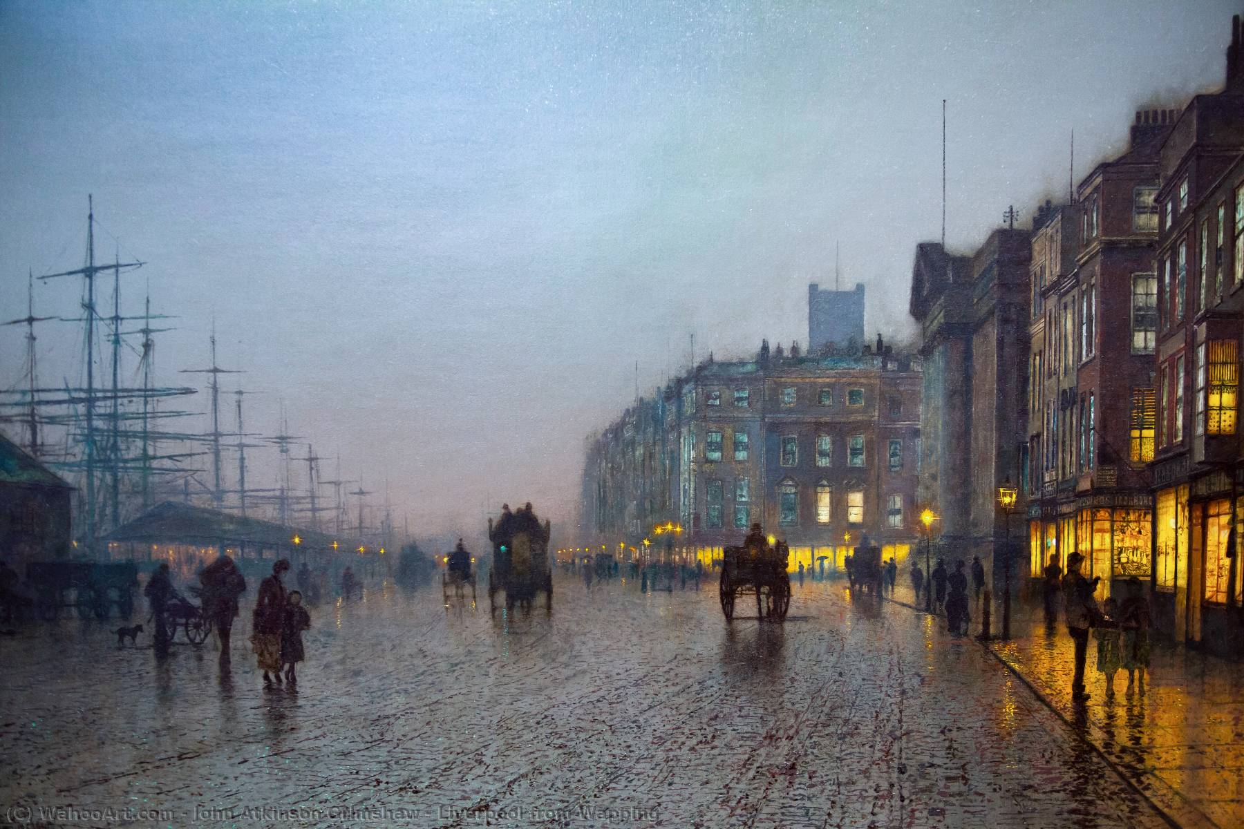 famous painting Liverpool from Wapping of John Atkinson Grimshaw