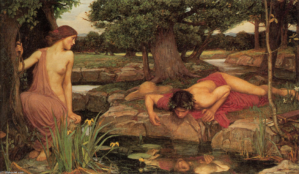 famous painting Echo and Narcissus of John William Waterhouse