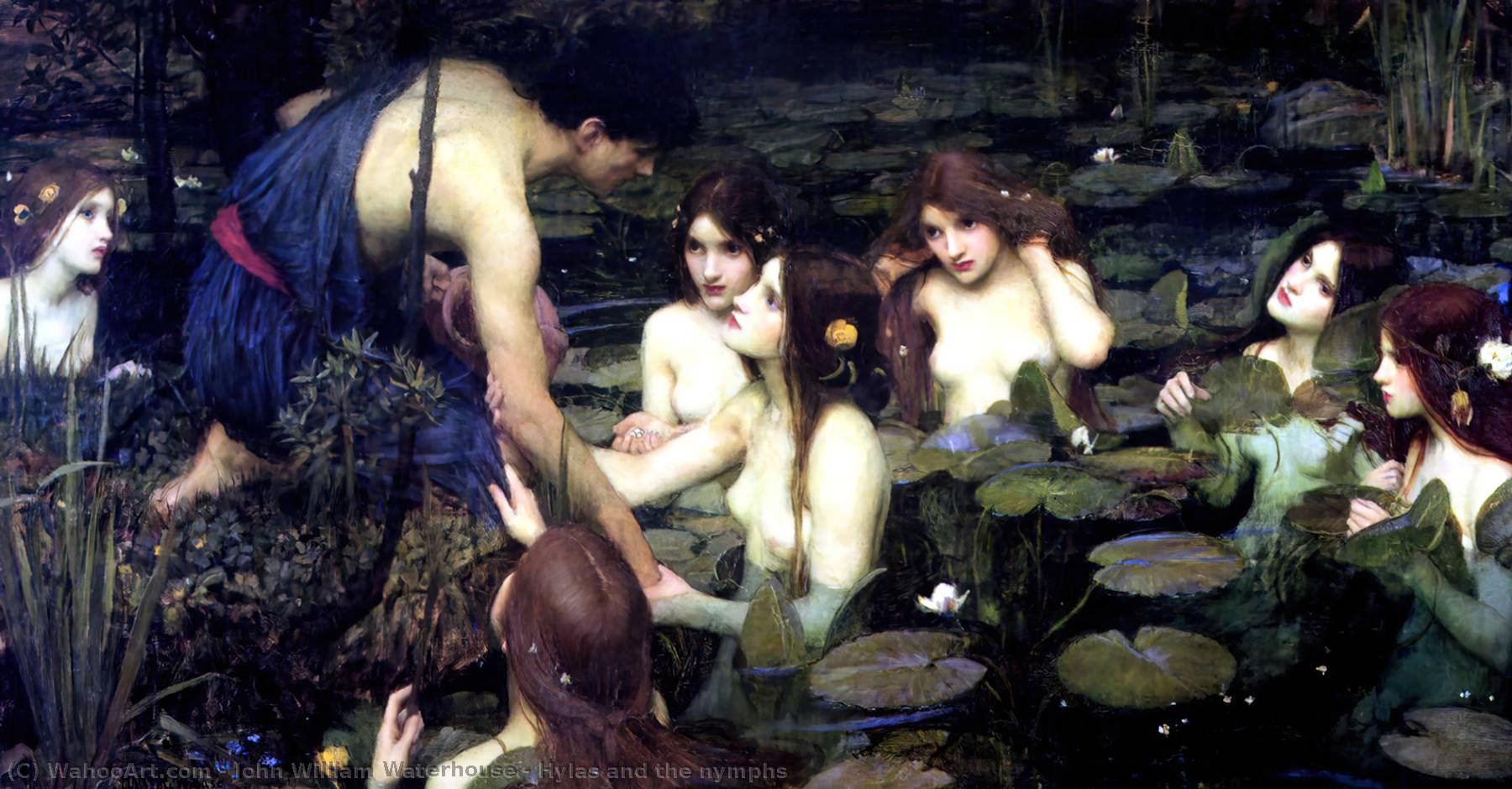 famous painting Hylas and the nymphs of John William Waterhouse