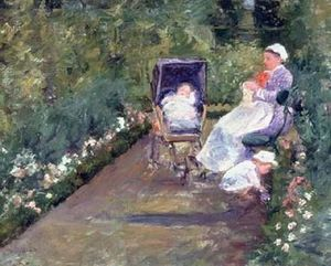 Mary Stevenson Cassatt - Children in the Garden (The Nurse)