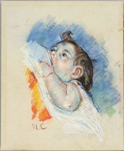 Mary Stevenson Cassatt - Head of a Child