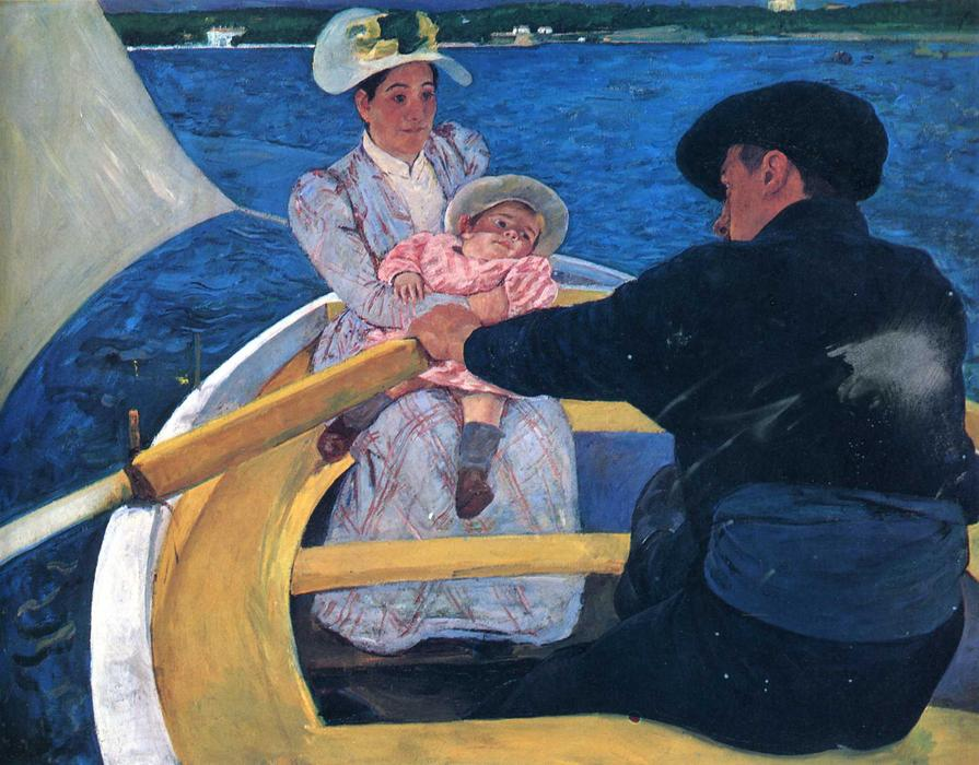 famous painting The boating party of Mary Stevenson Cassatt