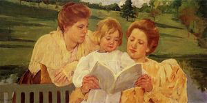 Mary Stevenson Cassatt - The Garden Reading