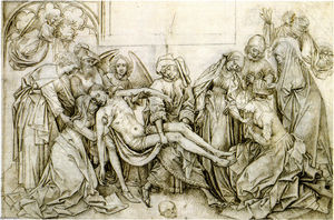 Robert Campin (Master Of Flemalle) - Bearing of the Body of Christ to the Sepulchre
