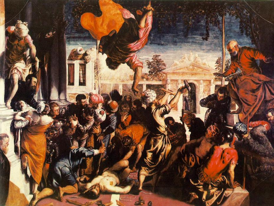 famous painting The Miracle of St Mark Freeing the Slave of Tintoretto (Jacopo Comin)