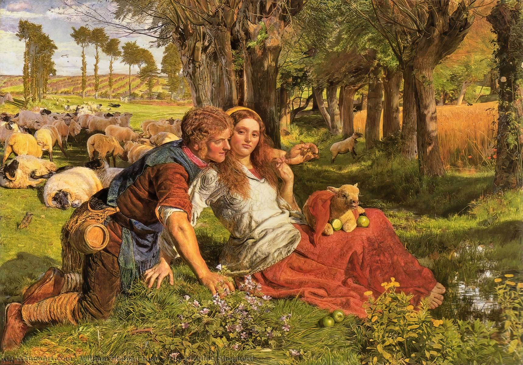 famous painting The Hireling Shepherd of William Holman Hunt