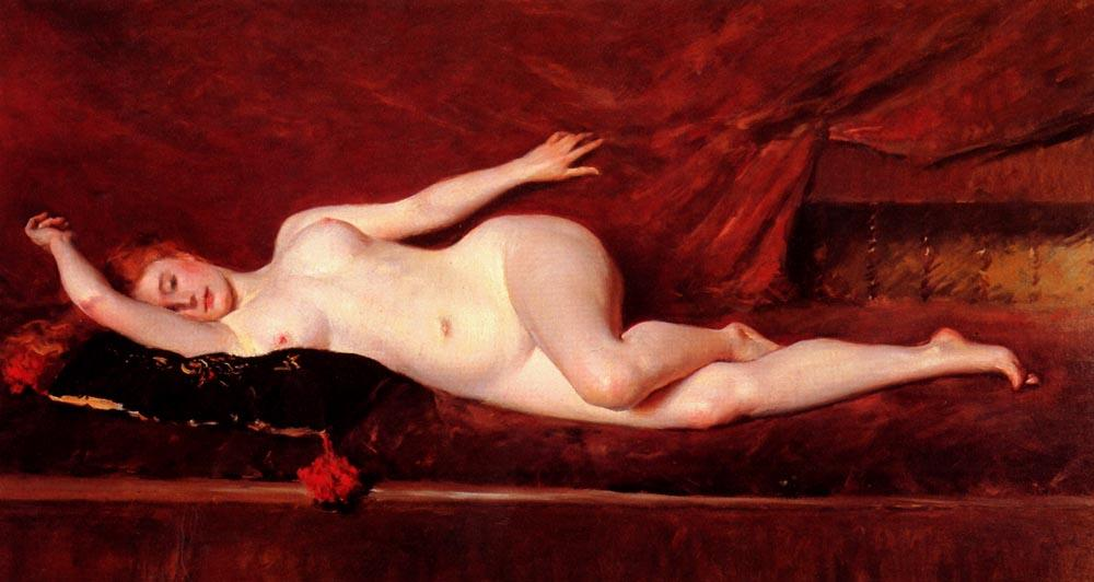 famous painting A Study in Curves of William Merritt Chase
