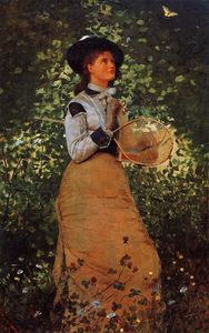 Winslow Homer - The Butterfly Girl
