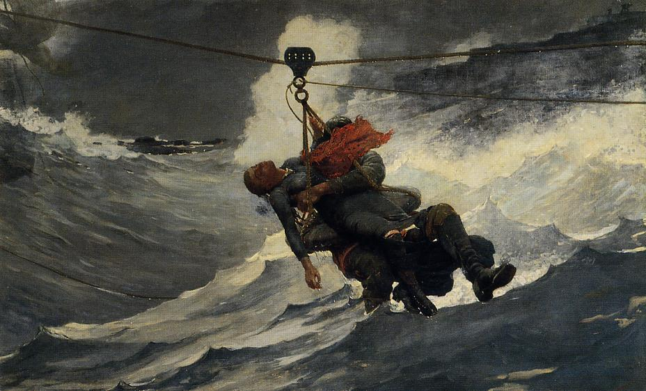 famous painting The Life Line of Winslow Homer